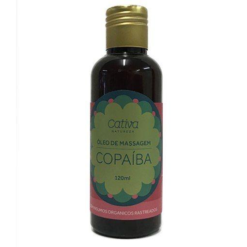 Óleo de Massagem Copaíba Orgânico Natural e Vegano 120ml - Cativa Natureza