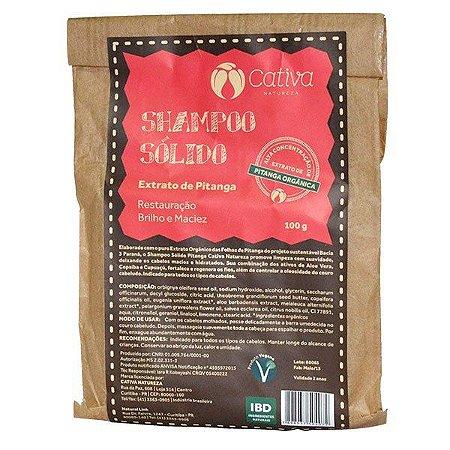 Shampoo Sólido de Pitanga Orgânico Natural Vegano 100g - Cativa Natureza