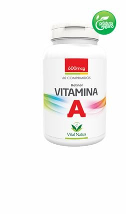 VITAMINA A 600MCG C/ 60 COMPRIMIDOS- VITAL NATUS