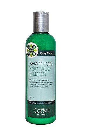 Shampoo Fortalecedor Erva Mate com Guanxuma e Gengibre Orgânico Natural Vegano 240ml - Cativa Natureza
