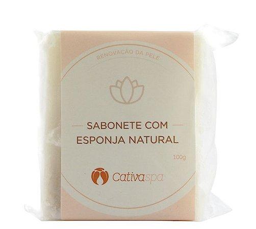 Sabonete Esfoliante com Esponja Natural - Cativa Natureza