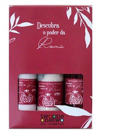 Kit Tropical Beauty Roma Loção, Esfoliante, Sabonete Líquido 120ml - Twoone Onetwo