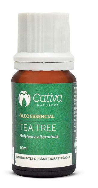 Óleo Essencial de Tea Tree Natural Organico Vegano - Cativa Natureza