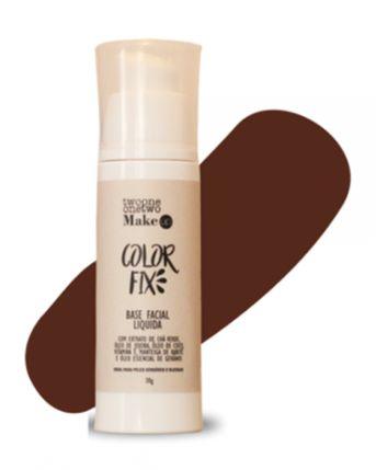 Base Facial Líquida Color Fix Vegana e Natural Cor 07 Escuro Médio 30g - Twoone Onetwo