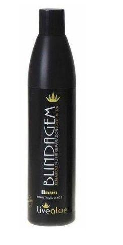Shampoo Nutrireparador de Aloe Vera Blindagem 500ml - Livealoe