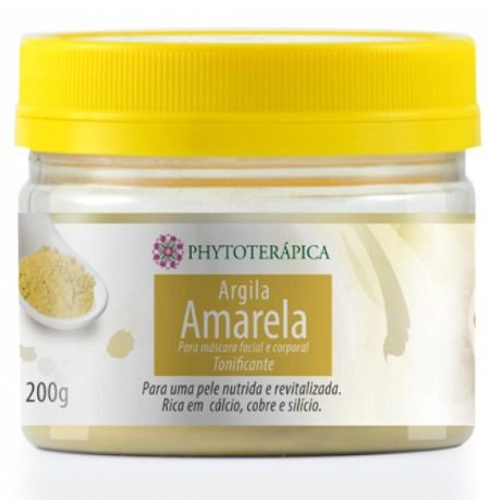Argila Amarela 200gr - Phytoterápica
