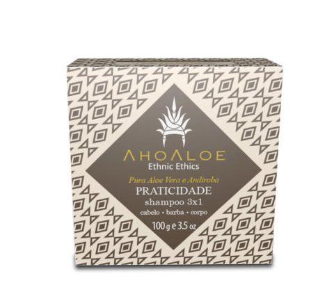 Shampoo sólido 3×1 Praticidade - Ahoaloe