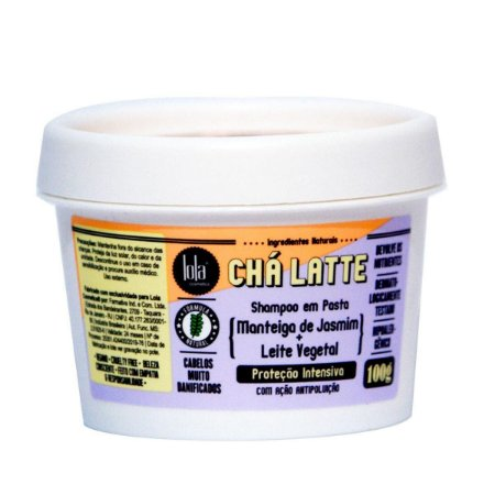 Shampoo em Pasta - Chá Latte - Jasmim e Leite Vegetal - 100 gr Lola Cosmetics