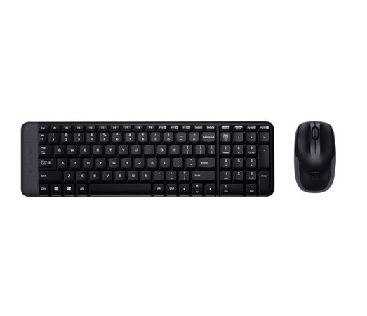 Kit Teclado e Mouse sem Fio, Logitech MK 220