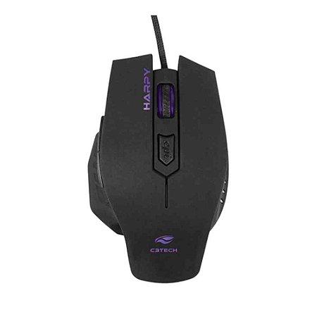 Mouse USB Gamer Harpy Preto, C3TECH MG-100BK