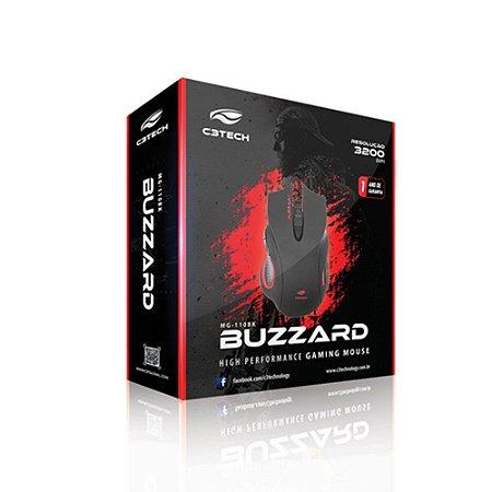 MOUSE USB C3TECH GAMER MG-110BK BUZZARD PRETO