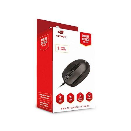 Mouse USB Preto, C3TECH MS-30BK