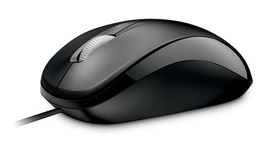 Mouse USB Compact Preto, MICROSOFT U81-00010
