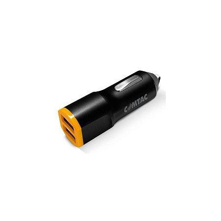 Carregador USB Veicular - 2 Portas USB 2.1A - COMTAC - 9345