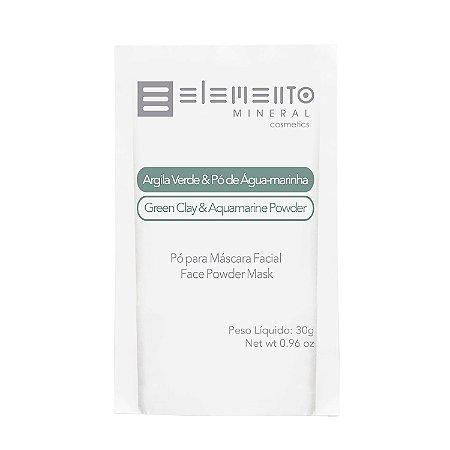 Argila Verde & Pó de Água-marinha  Sachê   30g  -  Elemento Mineral