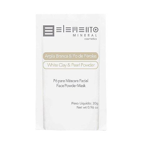 Sachê de Argila Branca com Pó de Pérolas  30g  -  Elemento Mineral
