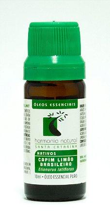 Óleo Essencial Orgânico de Capim Limão Brasileiro  -  10ml  -  Harmonia Natural