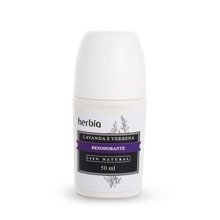 Desodorante Roll-on Natural e Vegano Lavanda e Verbena  50ml  -  Herbia
