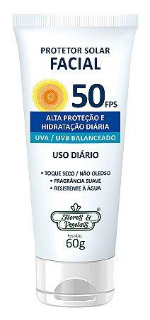 Protetor Solar Facial Vegano  FPS 50  60gr  -  Flores e Vegetais