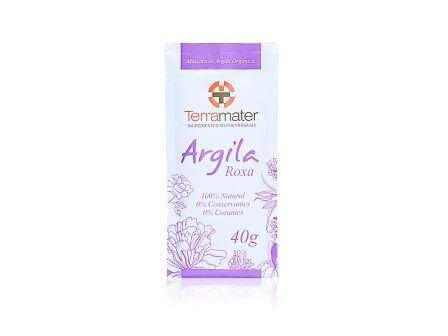 Argila  Roxa Orgânica -  Terramater  -  40g