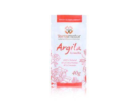 Argila Orgânica Vermelha Anti-Idade  -  Terramater  -  40g