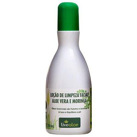 Loção de LImpeza Aloe Vera e Moringa  Natural e Vegana  - 210ml -  Livealoe