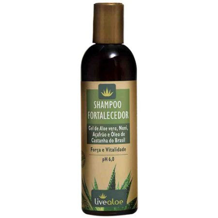 Shampoo Fortalecedor Vegano  - 240ml -  Livealoe