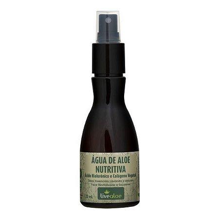 Água de Aloe Nutritiva  com Ácido Hialurônico  Natural  e Vegana  - 120ml -  Livealoe