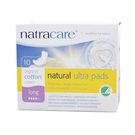 Absorvente Orgânico com abas Long Ultra Pads  com 10un  -  Natracare