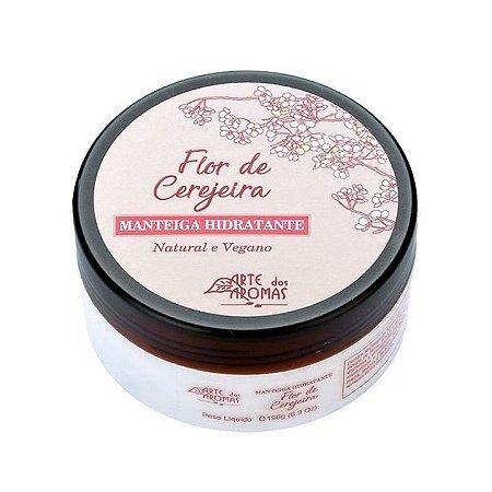 Manteiga Hidratante Flor de Cerejeira  Natural e Vegano - 196g -  Arte dos Aromas