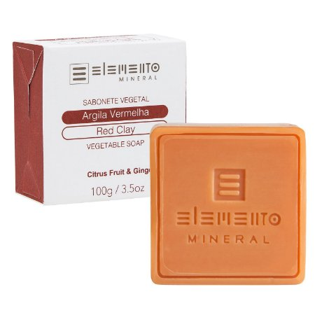 Sabonete Argila Vermelha   - 100g -  Elemento Mineral