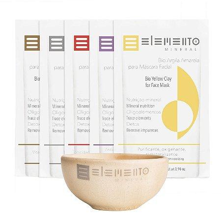 Máscara Kit Revitalizante Bio Argilas  -  Elemento Mineral