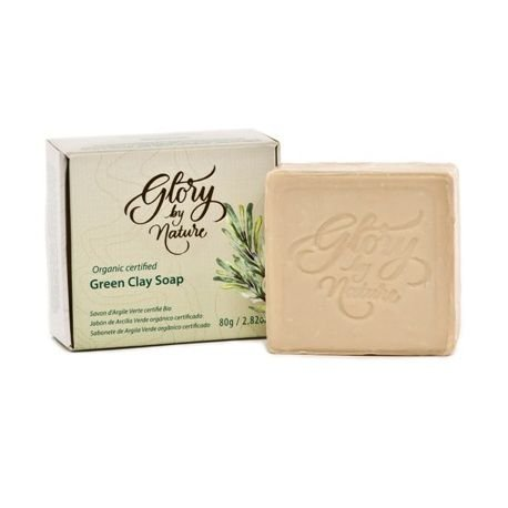 Sabonete Facial Natural e Vegano Argila Verde  -  80g  - Glory by Nature