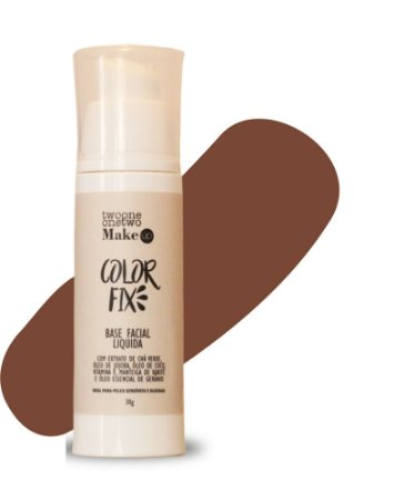 Base Facial Líquida Color Fix  Vegana e Natural   Cor 06  Escura   -  30g   Twoone Onetwo