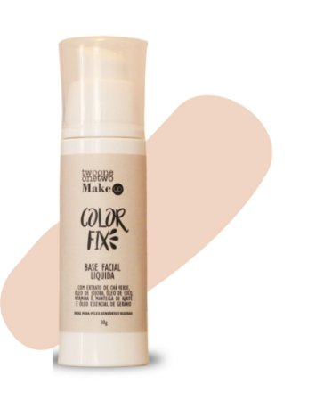 Base Facial Líquida Color Fix  Vegana e Natural   Cor 01  Clara  -  30g   Twoone Onetwo