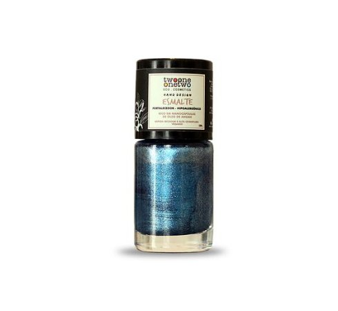 Esmalte Hipoalergênico Fortalecedor Argan Vegano  Azure  Cor 607    10ml  -  Twoone Onetwo