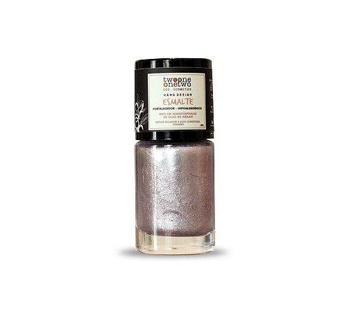 Esmalte Hipoalergênico Fortalecedor Argan Vegano  Rose Diamond  Cor 612    10ml  -  Twoone Onetwo