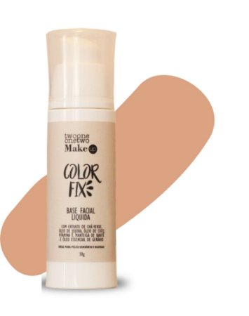 Base Facial Líquida Color Fix  Vegana e Natural   Cor 04  Média  -  30g   Twoone Onetwo