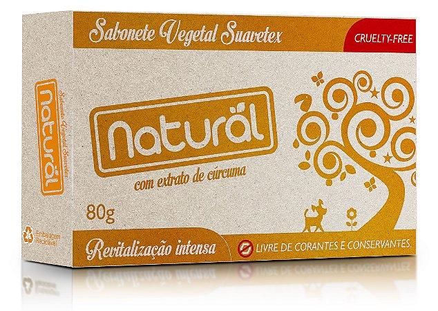 Sabonete Vegetal Natural e Vegano com Cúrcuma   80g   Contente