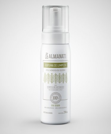 Espuma de Limpeza Facial Pele Oleosa e Acneica   200ml   Almanati