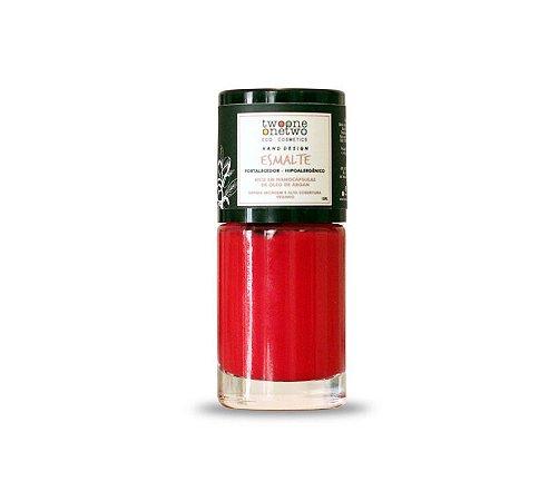 Esmalte Hipoalergênico Fortalecedor Argan Vegano  Apple Garden  Cor 623    10ml  -  Twoone Onetwo
