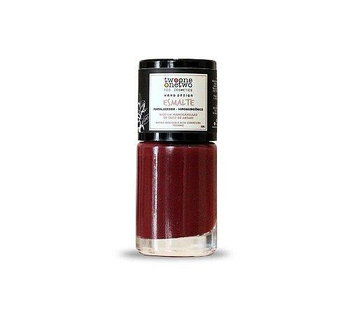 Esmalte Hipoalergênico Fortalecedor Argan Vegano    Red Pear  Cor 630    10ml  -  Twoone Onetwo