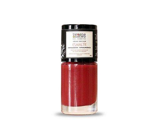 Esmalte Hipoalergênico Fortalecedor Argan Vegano   Goji Berry  Cor 628    10ml  -  Twoone Onetwo