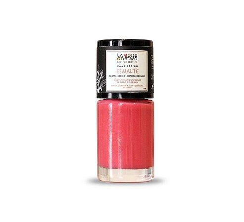 Esmalte Hipoalergênico Fortalecedor Argan Vegano  Peach Pink  Cor 629 -   10ml  -  Twoone Onetwo