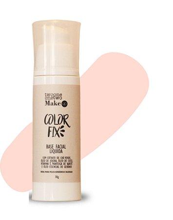 Base Facial Líquida Color Fix  Vegana e Natural   Cor 00   Clara   -  30g   Twoone Onetwo