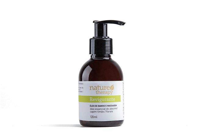 Óleo Corporal de Banho e Massagem Natural e Vegano  Revigorante  120ml  -  Nature Therapy