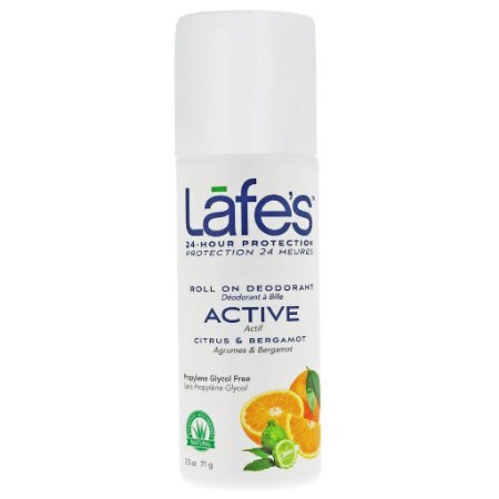 Desodorante Natural  e Vegano Roll-on Active Citrus e Bergamota  88ml   -   Lafe's