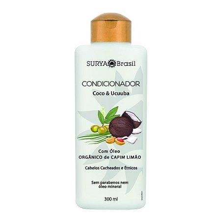 Condicionador Coco & Ucuuba com Óleo Orgânico de Capim Limão - Uso Diário 300ml - Surya Brasil