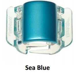 Prendedor de Cabelo Piranha Pearlised Plain - Sea Blue - Linziclip