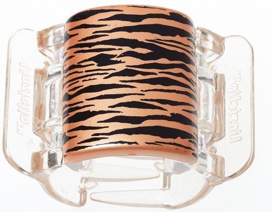 Prendedor de Cabelo Piranha Tiger Pearlised - Orange Peel - Linziclip